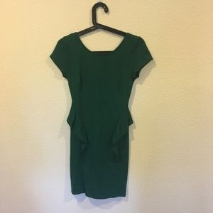 Zara green low back mini dress